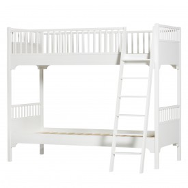 Seaside Bunk Bed - Slant Ladder White Oliver Furniture
