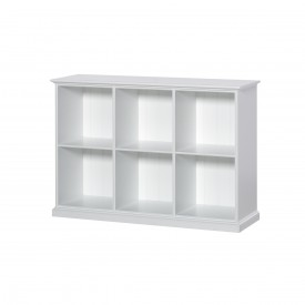 Cabinet Seaside 6 Compartments White Oliver Furniture