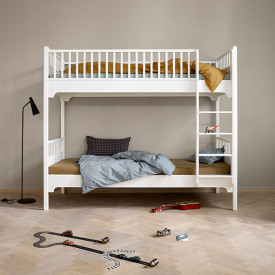 Seaside Bunk Bed - Vertical Ladder White Oliver Furniture