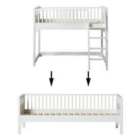Seaside Conversion Kit - Junior low loft bed to day bed White Oliver Furniture
