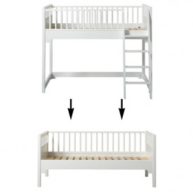 Seaside Conversion Kit - Junior low loft bed to junior day bed White Oliver Furniture