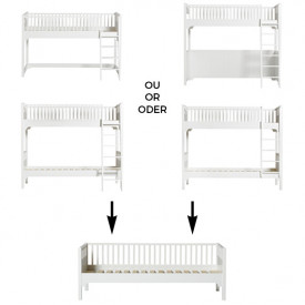 Seaside Conversion Kit - All high beds to sofa bed White Oliver Furniture