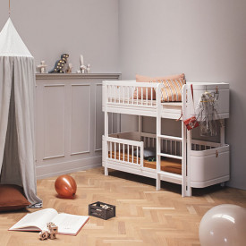 Mini+ Low Bunk Bed 68x162cm - White White Oliver Furniture