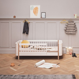 Mini+ Junior Bed 68x162cm - Oak White Oliver Furniture