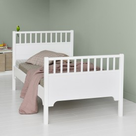 Junior Bed Seaside 90 x 160 cm White Oliver Furniture