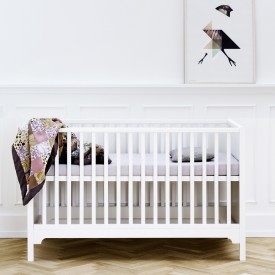 Convertible Cot Seaside 70x140 cm White Oliver Furniture