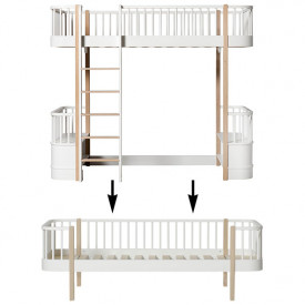 Wood Conversion Kit - Loft bed to day bed - Oak White Oliver Furniture