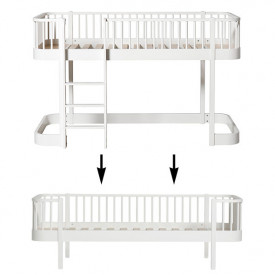 Wood Conversion Kit - Low loft bed to day bed - White White Oliver Furniture