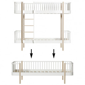 Wood Conversion Kit - Bunk bed to day bed - Oak White Oliver Furniture