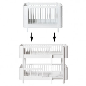 Mini+ Conversion Kit - Cot bed to Low-bunk bed - White White Oliver Furniture