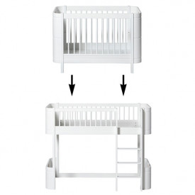 Mini+ Conversion Kit - Cot bed to Low-loft bed - White White Oliver Furniture