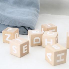 Alphabet Blocks - White Nature Ooh Noo