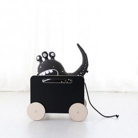 Toy Chest on wheels - Blackboard Black Ooh Noo