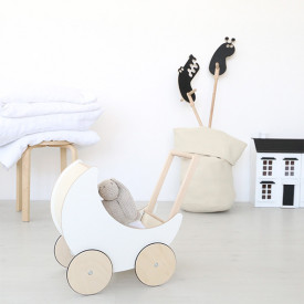 Toy Pram - Display Model White Ooh Noo