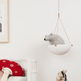 Polar Bear Knut Cushion Grey OYOY