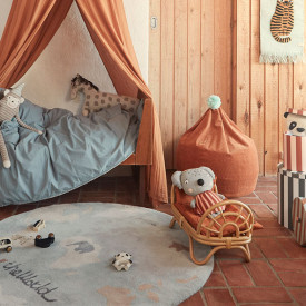 Rainbow Rattan Doll's Bed Nature OYOY