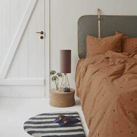 Dot Bedding Caramel - 140x200 Brown OYOY