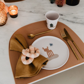 Placemat Rainbow - Fudge Brown OYOY