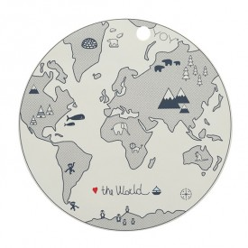 Placemat - The World Beige OYOY