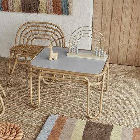 Rainbow Mini Rattan Table Nature OYOY