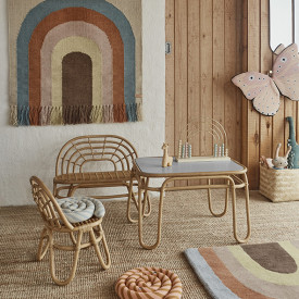 Rainbow Mini Rattan Chair Nature OYOY