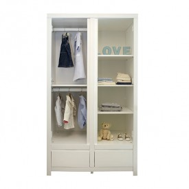 Laurence Wardrobe White Bobo Kids