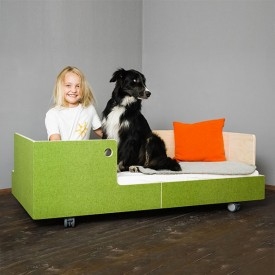 Junior Bed Otto in the Moon Grey Perludi