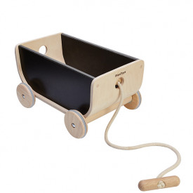 Wagon - Natural / Black Black Plantoys