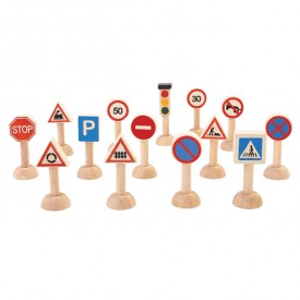 Set of traffic signs Nature Plantoys