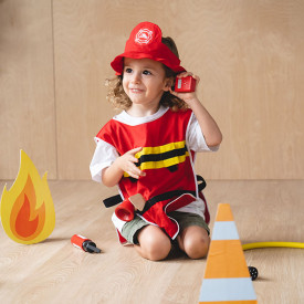 Fire Fighter Play Set Red Plantoys