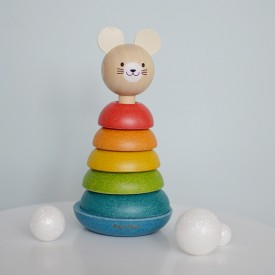 Stacking Mouse Multicolour Plantoys