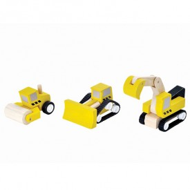 Road construction vehicles Yellow Plantoys