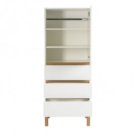 Indigo 1 door 3 drawers Wardrobe - White White Quax