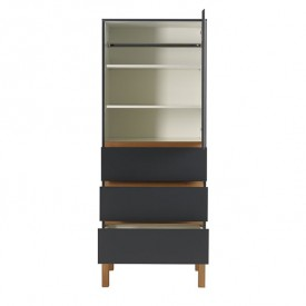 Indigo 1 door 3 drawers Wardrobe - Moonshadow Grey Quax