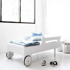 R Toddler Bed - White White RaFa Kids