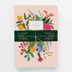 Set of 3 stitched notebooks - Garden Party Multicolour Rifle Paper Co.