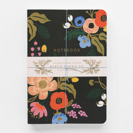 Set of 3 stitched notebooks - Lively Floral Multicolour Rifle Paper Co.