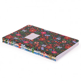 Set of 3 stitched notebooks - Wild Rose Multicolour Rifle Paper Co.