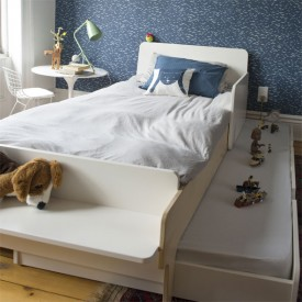 River Twin Bed 90 x 200 cm - Birch White Oeuf NYC