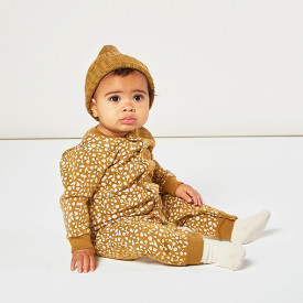 Fleece Onesie - Golden Berry Brown Rylee + Cru