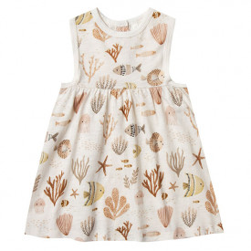 Layla Dress - Sea Life Multicolour Rylee + Cru