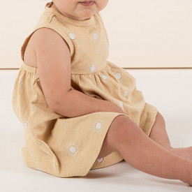 Layla Dress - Sunburst Yellow Rylee + Cru
