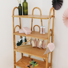 June Rattan Bookcase Nature Saudara