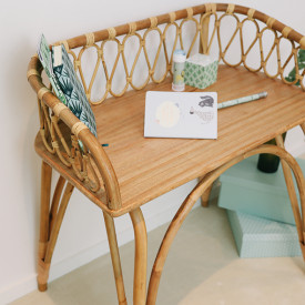 June Rattan Desk Nature Saudara