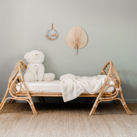 June Rattan Junior Bed - 70 x 140 cm Nature Saudara