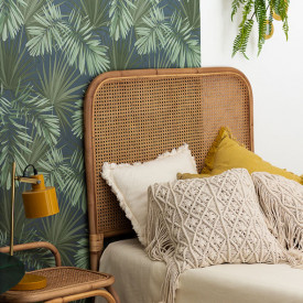 Jack Rattan and Cane Headboard for 90cm Bed Nature Saudara
