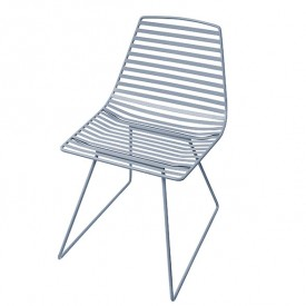 Metal chair Me-Sit - Blue - L Blue Sebra