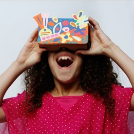 DIY Virtual Reality Viewer: Modern Art Multicolour Seedling