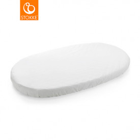 Fitted sheet for Sleepi Baby Bed - White - 120 cm (116 x 64 cm) White Stokke®