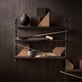Pocket Shelf - Oiled Smoked Oak  Brown String Furniture
